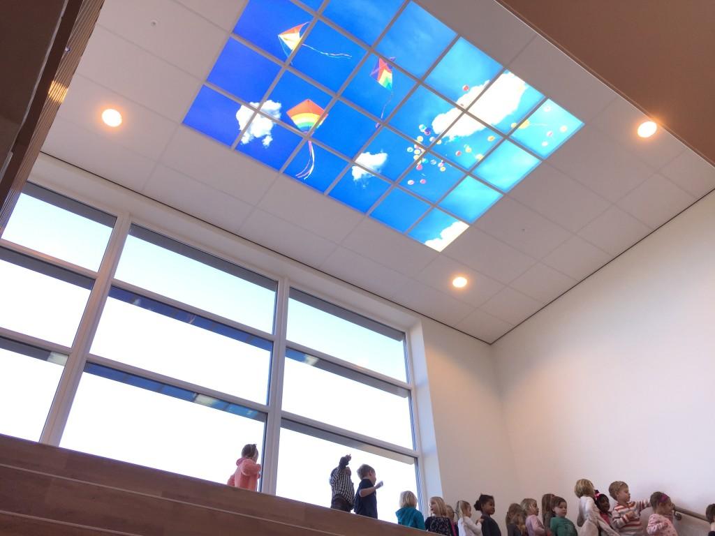 Moodpanelen plafond bij Basisschool De Klipper