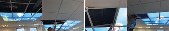 foto's plaatsing wokenplafond in het systeemplafond